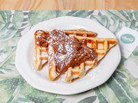 Waffle con dulce de leche o miel