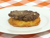 Carne Hamburguesa + Papa Aborrajada