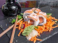 Dos salmones nikkei roll (6 piezas)