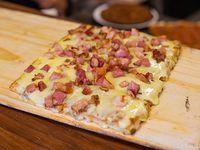Pizza muzzarella con un gusto a elección