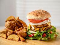Hamburguesa vegetariana 4 gustos a elección