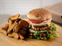 Hamburguesa vegetariana armala como quieras con guarnición a elección