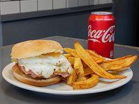 Promo - Burger Buenos Aires con papas fitas + lata de Pepsi
