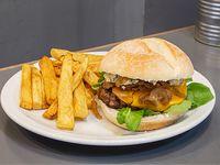 Estambul burger con guarnición