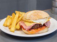 Buenos Aires burger con guarnición