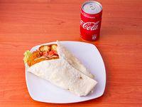 Combo 5 - Sándwich de falafel 20cm + Gaseosa coca-cola 220ml
