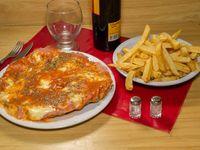 Promo 12 - 2 milanesas de pollo napolitana + papas fritas