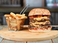 Combo - Pentakill burger + papas crinkles