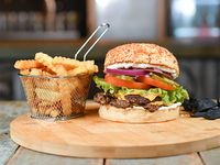 Combo - Shelby doble burger + papas crinkles