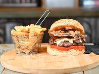 Combo - Harley doble burger + papas crinkles