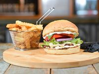 Combo - Bel air simple burger + papas crinkles