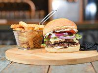 Combo - Bel air doble burger + papas crinkles