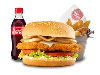 Combo hamburguesa pollo crispy