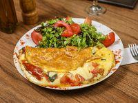 Omelette vegetariano con guarnición