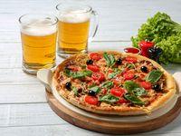 Pizza Mediana al Sartén de Cualquier Sabor + 2 Cervezas Heineken 269 ml