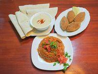 Promo - 4 keppes + humus chico + verduras horneadas + 4 panes