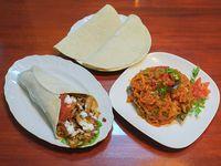Promo -  2 shawarma de pollo +1 verduras horneadas +2 pan