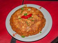 Tortilla de papas y cebolla