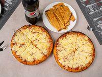 Promo 5 - 2 pizzetas con muzzarella + 2faina + Pepsi 2.25 L o Pilsen
