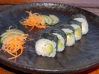 Vegetarian vegan maki roll