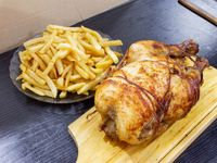 Pollo al spiedo + acompañamiento