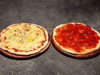 Promo Alegría - 1 Pizza casera 30cm solo muzza + 1 Pizza casera 30cm solo salsa de tomate de la casa