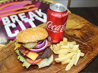 Break City Burger + Papas fritas + Bebida