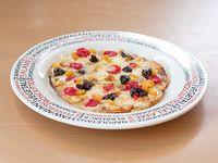 Pizza Vegetariana Mediana Cóctel de Frutas