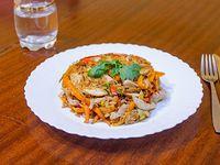 Wok de arroz con pollo