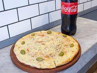 Promo - Pizza mozzarella grande + gaseosa de 1.5 L