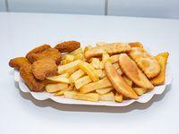 Promo 4 - 6 Empanaditas de queso fritas (tamaño coctel) + porciones de papas fritas + 6 nuggets