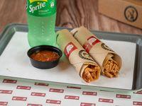 El Gringo - 2 tacos BBQ + salsa Chula + bebida soft