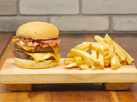 Doble Mr. cuarto Bacon Burger