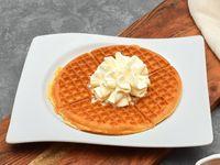 Waffle Sencillo con Crema