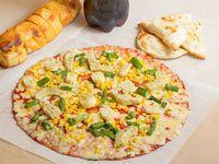 Promo 4 - Pizza mediana + porción de ajo premium + 4 empanadas de queso + gaseosa línea Coca Cola 1.5 L