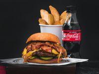 Combo Beef Sencilla con Queso y Bacon
