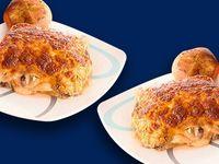 Dos Lasagñas Bolognesas Con Pan de Ajo