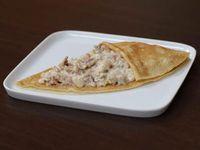 Crepe de pollo con champiñones y tocino
