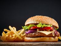 Hamburguesa de Carne + Papas a la Francesa
