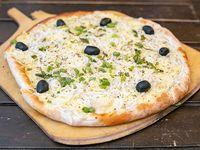 Pizza fugazzeta rellena con jamón