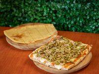 Promoción - Pizza muzzarella con gusto + Fainá