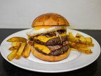 Crazy burgers papas fritas rusticas