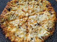 Pizza de Pollo con Champiñones