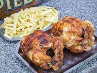 2 Pollos con papas fritas XXL