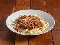 Spaguetti con salsa
