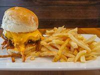 Combo hamburguesa simple cheddar
