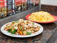 Combo - Pollo al wok con champiñón y verduras + arroz con huevo