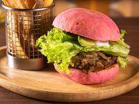 Veggie Burger+ Papas Fritas Rústicas
