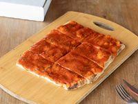 Pizza porción solo salsa