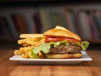Burger classic con papas fritas